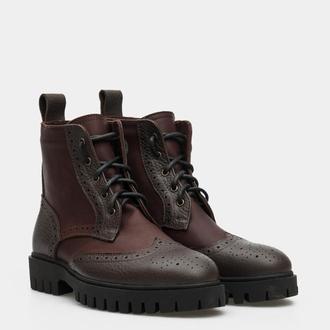 Мужские кожаные ботинки Дерби (на байке)