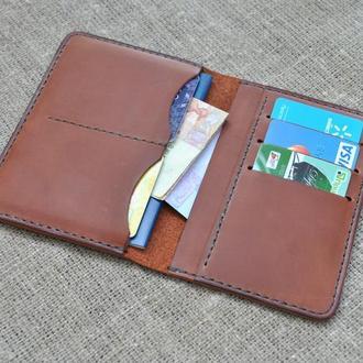 Обложка для документов, денег и кредитных карт из натуральной кожи D09-210