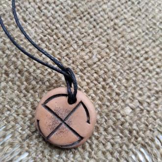 ЯРОВИК славянский оберег из природной обожженной глины (защита, женский оберег)
