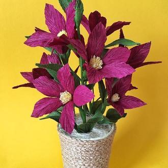 Квіткова композиція у кашпо для декору