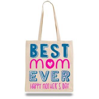 """Эко-сумка, шоппер с принтом повседневная """"Best mom ever"""""""