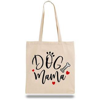"""Эко-сумка, шоппер с принтом повседневная """"Dog mama"""""""