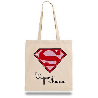 """Эко-сумка, шоппер с принтом повседневная """"Super Mama"""""""