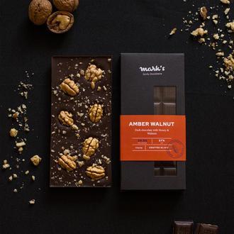 "Бельгійський Преміум Шоколад  Mark's ""Amber Walnut"""