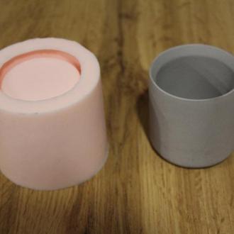 """Силиконовая форма для бетонных горшков / капшо / """"Цилинд S"""""""