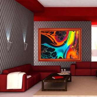 """Интерьерная картина акрилом """"Разноцветная абстракция 2"""" акрил"""