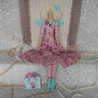 Кукла в стиле Тильда  фея домашнего очага плюс БЕСПЛАТНЫЙ ПОДАРОК