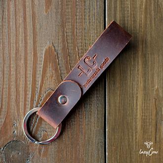 Брелок для ключей из натуральной кожи crazy horse цвета виски