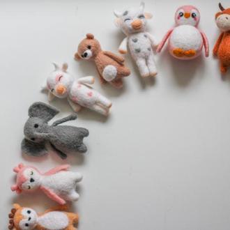 Пропс игрушки из шерсти звери, реквизит для ньюборн, игрушки из шерсти, пропс, пропс звери