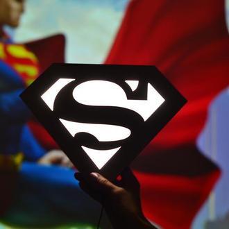 Ночник из дерева - Супермен