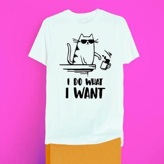 Женская футболка I do whatt I want (S-XXL)