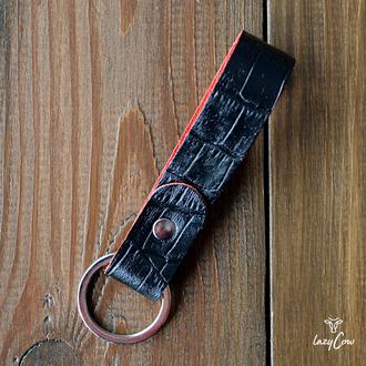 Брелок для ключей из натуральной кожи под аллигатора