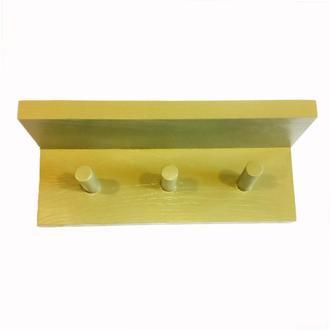 Вішалка для одягу Еспо на 3 секції з поличкою Оливково-жовтий