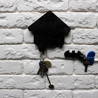 Ключница: Бэтмен, чёрная (на 2 брелка )