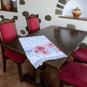 Полотенце для кухни - 100 % хлопок рогожка, размер 44*72 рисунок - маки акварель.