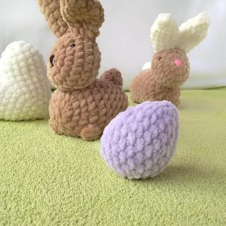 Пасхальный декор кролики. В подарок вязаное яйцо. Вязаные игрушки