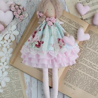 Интерьерная текстильная кукла-ангел в стиле Тильда