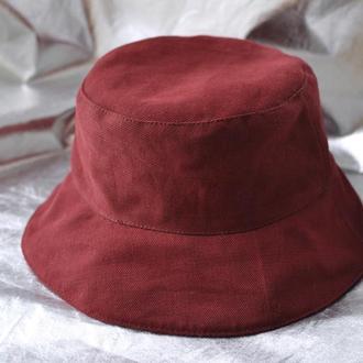 Панама женская Джинс Бордовый красный