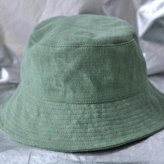 Панама женская хлопок Зеленая