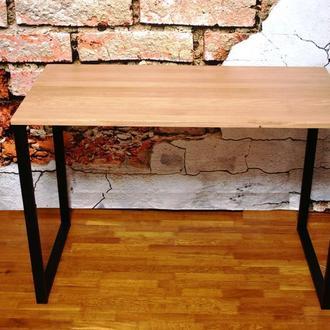 Дубовый стол лофт  с классическими опорами