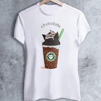 """Женская футболка с принтом """"Кофе: Chocolate"""" Push IT"""