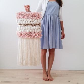 Тканый гобелен, настенное текстильное панно (украшение для интерьера, декор для дома)