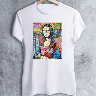 """Женская футболка с принтом """"Арт: Мона Лиза"""" Push IT"""
