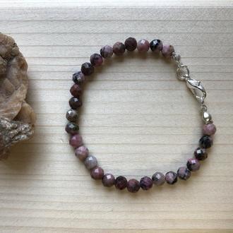 Браслет из натурального камня Родонит