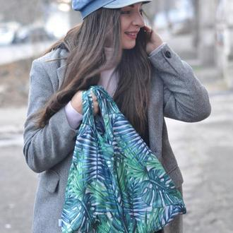 эко0сумка сумка-пакет компактная сумка хозяйственная сумка