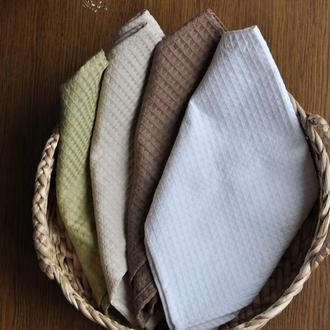 Кухонное полотенце вафельное полотенце однотонное текстиль для дома