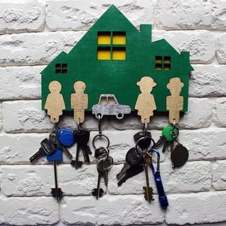 Ключница: Большая семья (на 5 брелка )