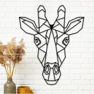 "Деревянная картина - панно  ""Giraffe Head"""
