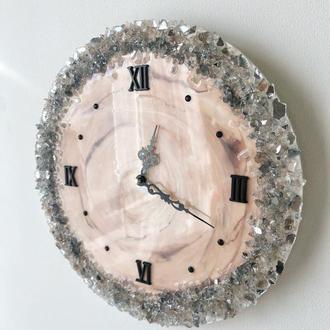 Годинник настінний з епоксидної смоли, ручна робота