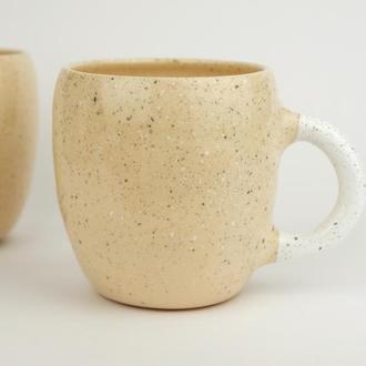 """Чашка керамічна """"Ніжний беж"""", 400мл"""
