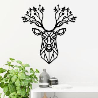 """Деревянная картина-панно """" Forest deer"""""""