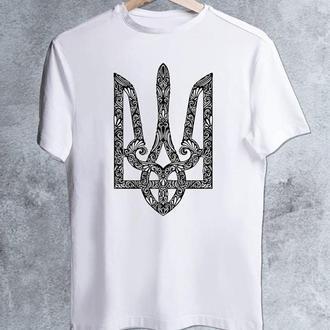 """Мужская футболка для рыбака """"Герб Украины"""" Push IT"""