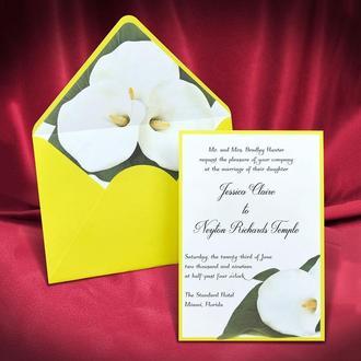 Пригласительные на свадьбу желтого цвета (арт. 5585)