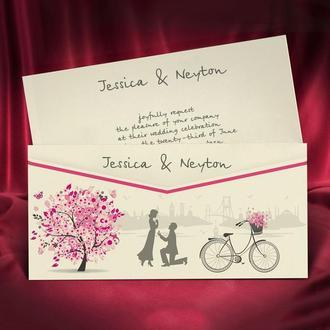 Романтичные приглашения на свадьбу (арт. 5587)