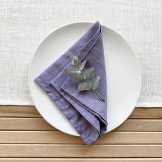 Лавандовая льняная салфетка Свадебные салфетки Сервировка стола Сервировочные текстильные