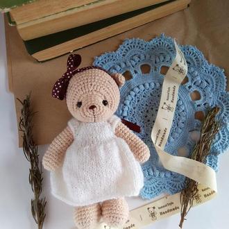 Мишка плюшевый Вязаная игрушка для фотосессий, для игр, декор