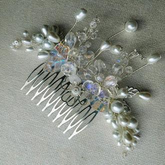 Свадебный гребешок для волос.