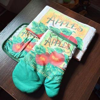 Прихватка+варежка+полотенце