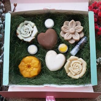 «Флора» подарочный набор на день рождения. Подарок для мамы или девушки, женщины.