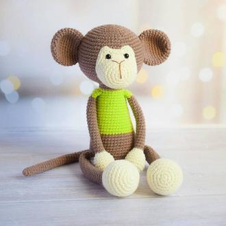 Забавная мартышка с длинными лапками.Игрушка для новорожденного.Игрушка для ребенка.Подарок малышу.