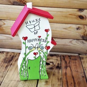 Шкатулка  «Любящие улитки» конфетница подарок новогодний