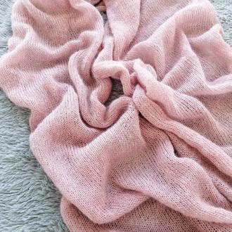 Тонкий и тёплый шарф из шерсти