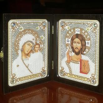 Икона Богородица Казанская и Христос Спаситель (венчальная пара)