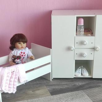 Комплект шкаф и кровать для пупсов Baby Born. Мебель для пупсов Baby Born, Реборн