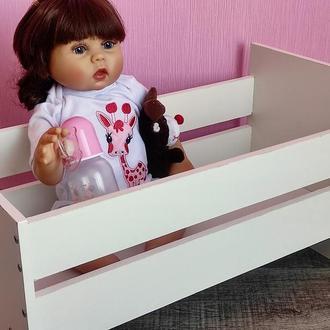 Кровать для пупсов Baby Born, Реборн. Кроватка для большой куклы Беби Бон