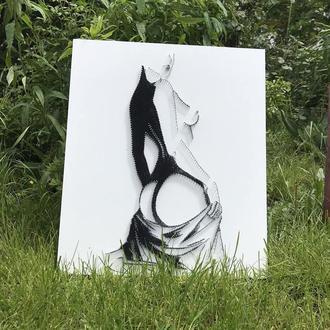 Картина для дома в технике стринг арт